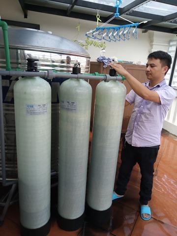 Hệ thống lọc nước sinh hoạt DN03 công suất 1,5m3/h lắp đặt tại lắptại 351 đường Hoa Sữa Vinhomes Riverside Sài Đồng