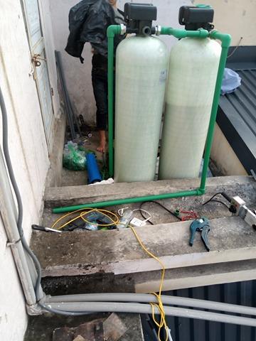 Hệ thống lọc nước sinh hoạt DN02 van tự động công suất 1m3/h được lắp đặt tại Tòa án nhân dân quận Hoàng Mai - Hà Nội