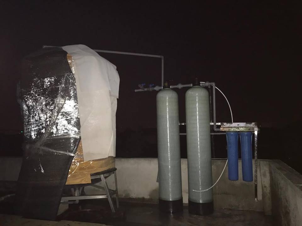 Hệ thống lọc nước sinh hoạt DN02 công suất 1m3/h được lắp đặt tại Thượng phúc -Tả Thanh Oai – Thanh Trì - Hà nội