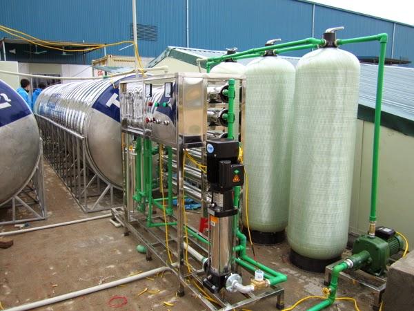 Hệ Thống lọc nước tinh khiết đóng bình lắp đặt cho cơ sở tại Thái Bình