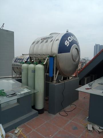 Hệ thống lọc nước sinh hoạt DN03 khu đất dịch vụ Vạn Phúc - Hà Đông - Hà Nội