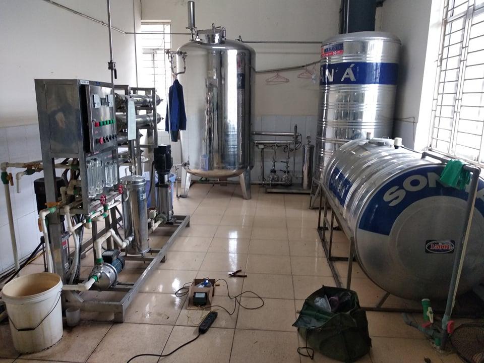 Hệ thống lọc nước công nghiệp lắp đặt tai: Công ty cổ phần hoá dược – Đức Giang, Hà Nội