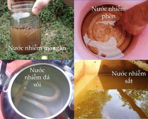 Nước giếng khoan chứa rất nhiều tạp chất độc hại